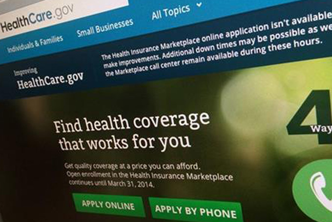 This photo of part of the HealthCare.gov website is photographed in Washington, on Nov. 29, 2013. (AP Photo/Jon Elswick)