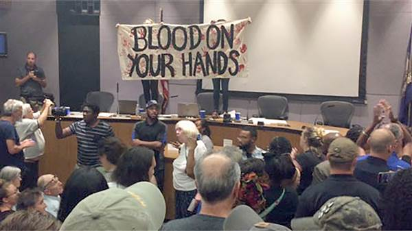 City Council meeting breaks down as anger boils over