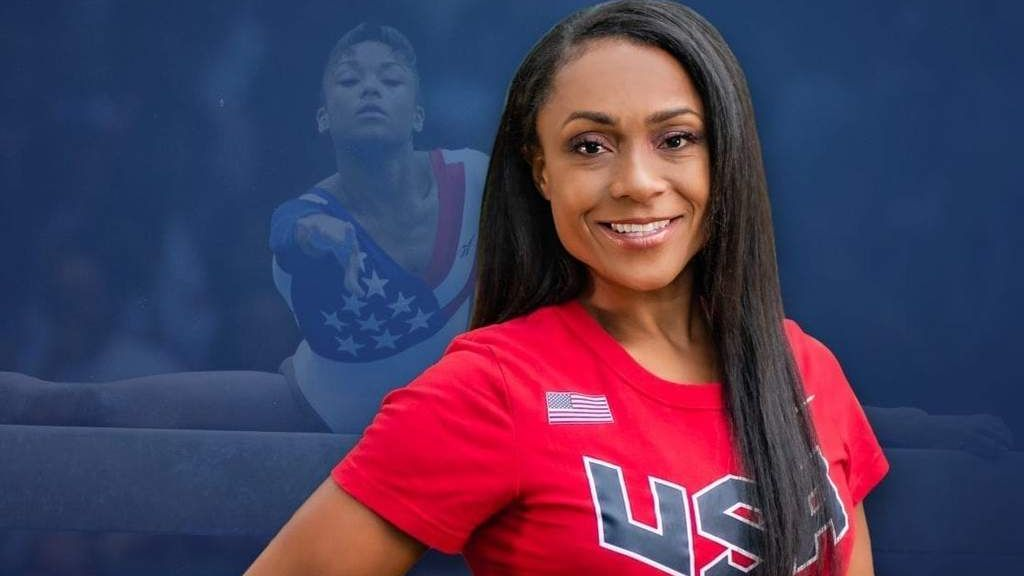 Former Olympic standout Dominique Dawes, now a mother of four, is focused on creating a healthy environment for children at her Maryland gymnastics facility. (Courtesy of Dominique Dawes)
